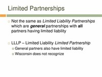 Limited Liability Limited Partnership (LLLP)