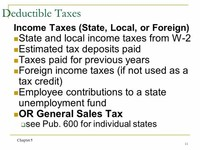 Property, State, and Local Income Taxes