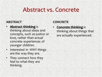 Concrete Thinking vs Abstract Thinking