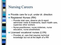 Nurse Anesthetists, Nurse Midwives and Nurse Practitioners