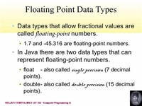 Float (Floating Point Numbers