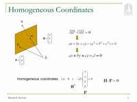 Homogeneous Coordinate System