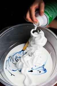 Step 3: Shaving Foam