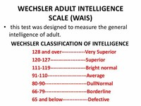 Wechsler Adult Intelligence Scale