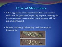 Crisis of Malevolence