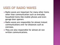 Radio Waves: Instant Communication