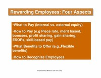 Bonuses, Profit Sharing, Merit Pay