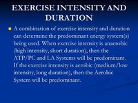 High Intensity, Short Duration