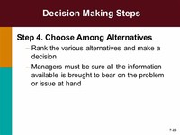 Step 5: Choose Among Alternatives