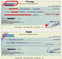 Multilated Cheque: