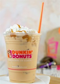 Salted Caramel Latte Coffee With Donuts
