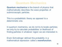 Quantum Mechanics Study of Submicroscopic Particles