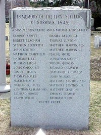 First Settlers of Norwalk Monument
