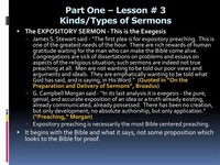 Seven Types of Sermons
