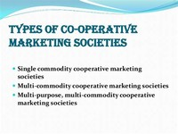 Marketing Cooperatives: