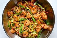 Asian Zucchini Noodle Stir-Fry With Shrimp: Get the Recipe