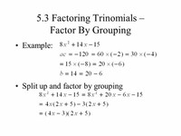 Group #5: Trinomials