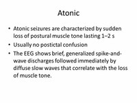 Atonic Loss of Muscle Tone