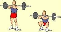 Barbell Front Squat With Heels Elevated