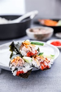Temaki (Sushi Hand-Rolled Into a Cone Shape)