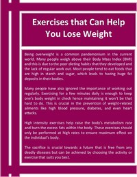 It Can Help With Weight Loss