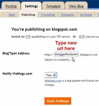 Type a URL for Your Blog