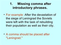 Missing a Comma After an Introductory Phrase