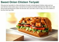 Sweet Onion Chicken Teriyaki