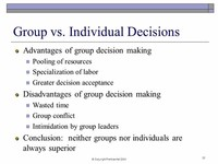 Individual and Group Decisions: