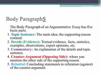 Main Body of Paper/Argument