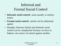 Formal and Informal Control