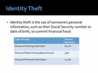 Misusing Personal Information (Identity Theft);