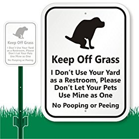 "SmartSign Aluminum Sign, Legend ""Keep Off Grass - Funny ..."