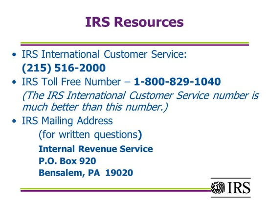 Internal Revenue Service Wage and Investment Stakeholder ...