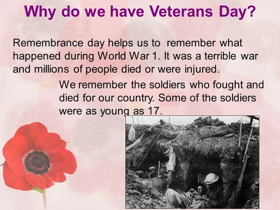 Veterans Day (Remembrance Day) - ppt download