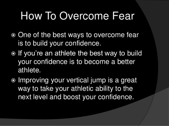 How to overcome fear for athletes