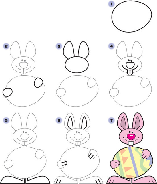 How to Draw an Easter Bunny | Kid Scoop