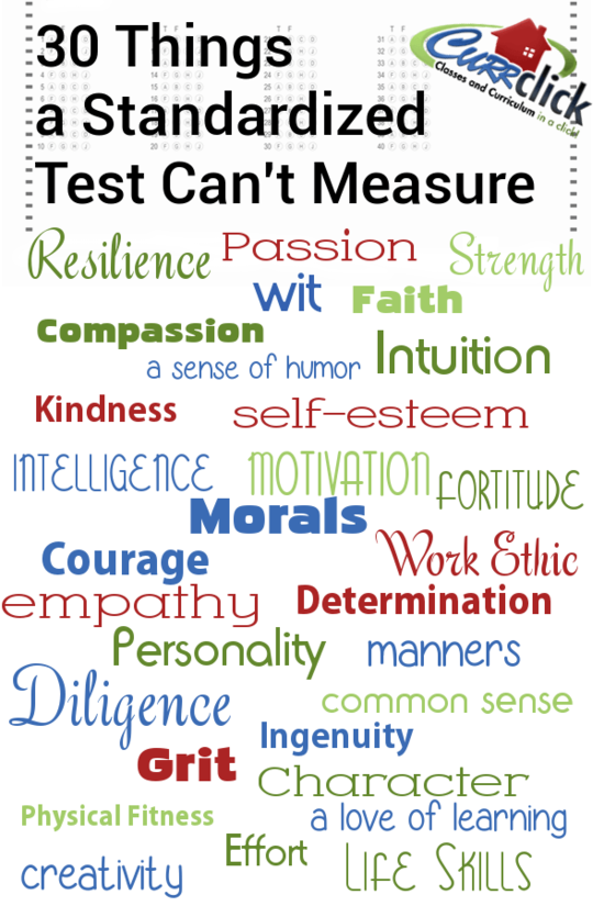 30 Things a Standardized Test Can't Measure via @Currclick ...