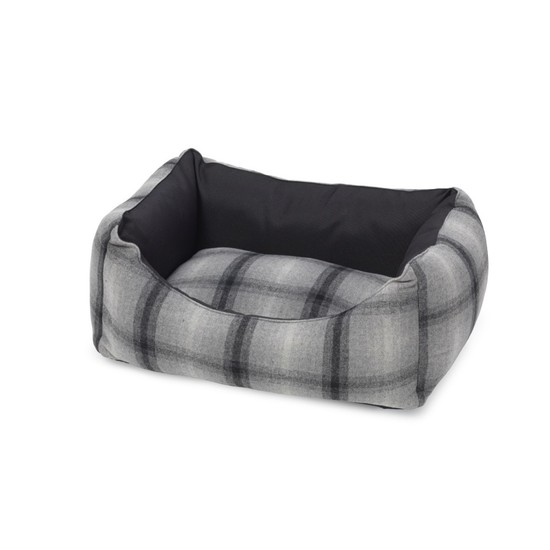 Grey Tweed And Water Resistant Rectangle Dog Bed by House ...