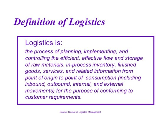 Logistics and Supply Chain Management-Overview