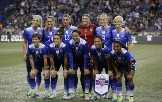 US women's soccer team is beating men's 3-0, but losing in ...