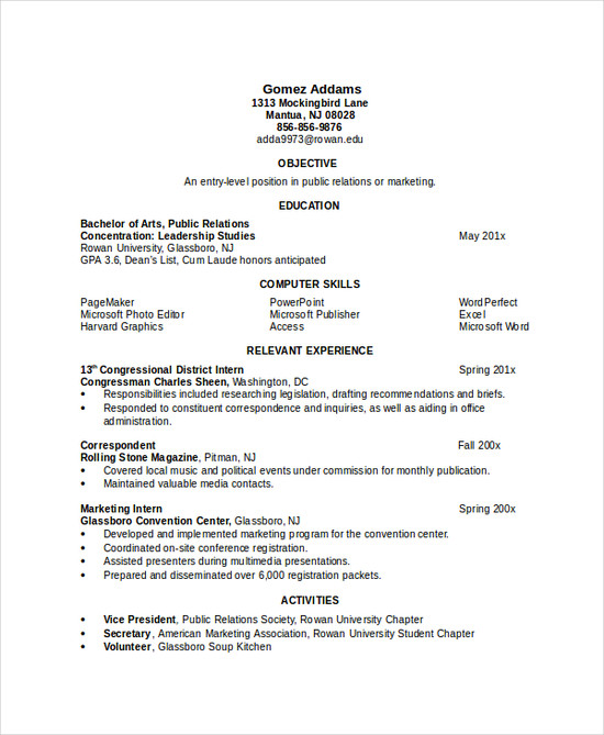 10+ Engineering Resume Template - Free Word, PDF Document ...