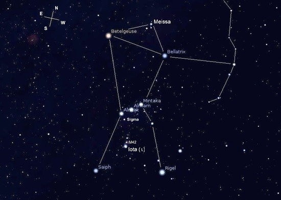 "The constellation of Orion is sometimes called ""The Hunter ..."