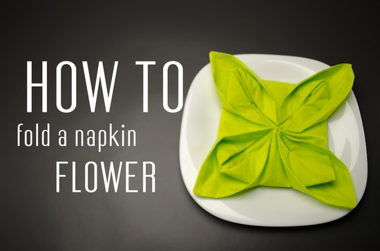 How to Fold a Napkin into a Flower - YouTube