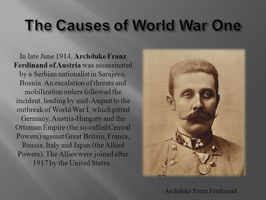World War 1, also known as the Great War - ppt video ...