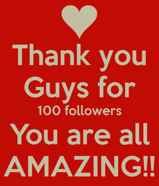 100 followers!!!! Thank you guys so much :D – Splash Your ...