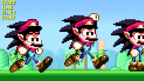 Super Mario the HedgeHog - Video Game Fusion - Mario ...