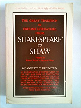 The Great Tradition in English Literature From Shakespeare ...