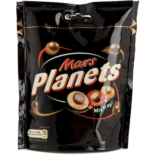 Mars Planets Chocolate Sharing Pouch