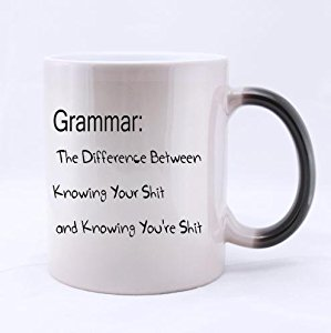 "Amazon.com: Personalized ""Grammar The Difference Between ..."